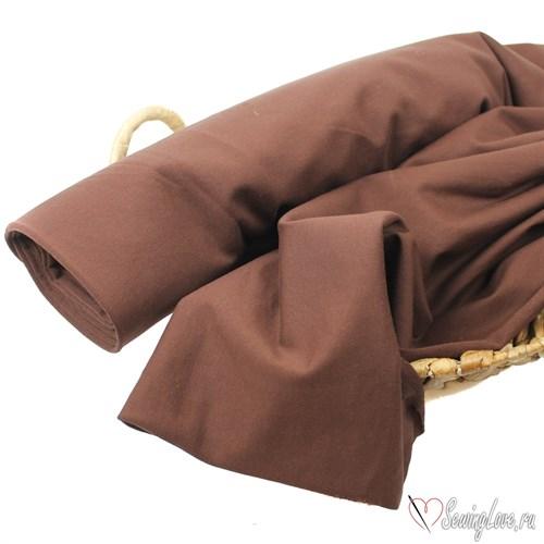 Футер двунитка петля с лайкрой Шоколад - фото 12377
