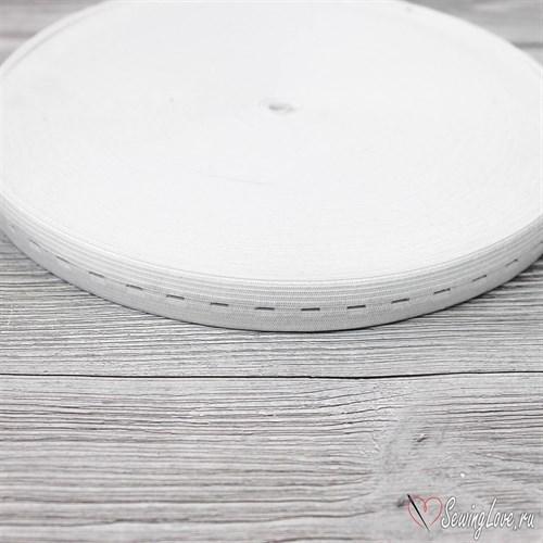 Резинка TBY вязаная перфорированная, 20мм, Белый - фото 15585