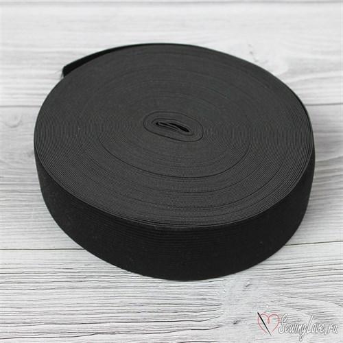 Резинка вязаная, 40 мм, Черный - фото 15589