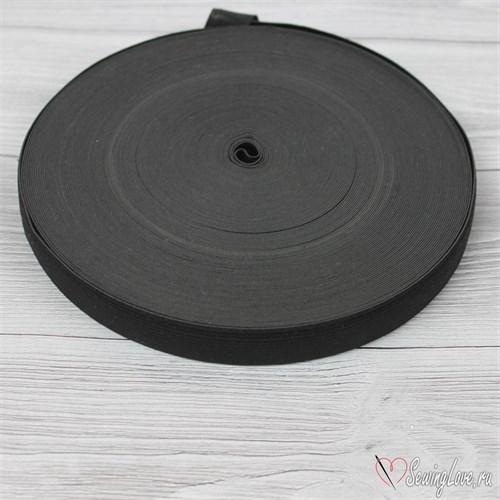 Резинка вязаная, 20 мм, Черный - фото 15593