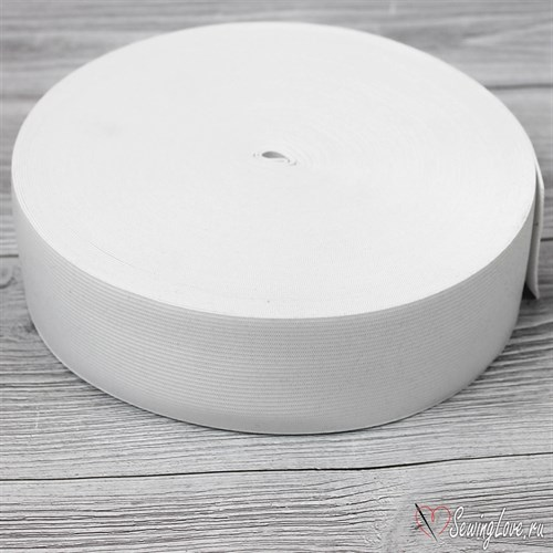 Резинка вязаная, 50 мм, Белый - фото 15595