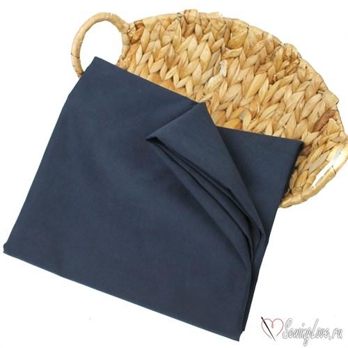 Ткань курточная LOKKER с эффектом замши. Темно-синий - фото 16209