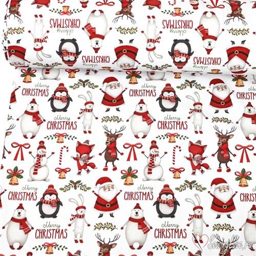 Футер 2-х ниточный Рождество - фото 16831
