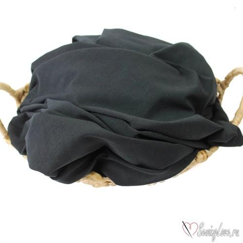 Кулир с лайкрой Чёрный (плотный) 230 гр - фото 18614
