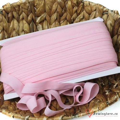 Резинка TBY окантовочная матовая 15 мм, Светло-розовый - фото 19330