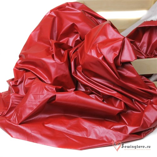 Курточная ткань Монклер (Лаке) Вишня - фото 19585