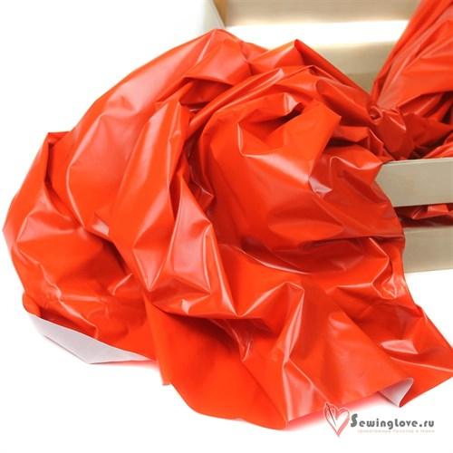 Курточная ткань Монклер (Лаке) Апельсин - фото 19593