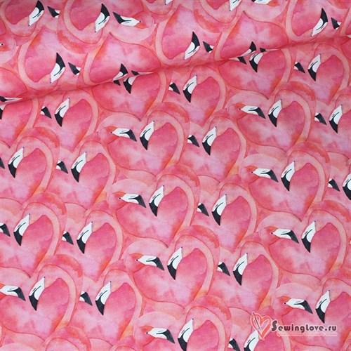 Кулир с лайкрой Розовый фламинго - фото 20044