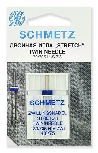 Иглы стрейч двойные Schmetz 130/705H-S ZWI № 75/4.0 - фото 20340