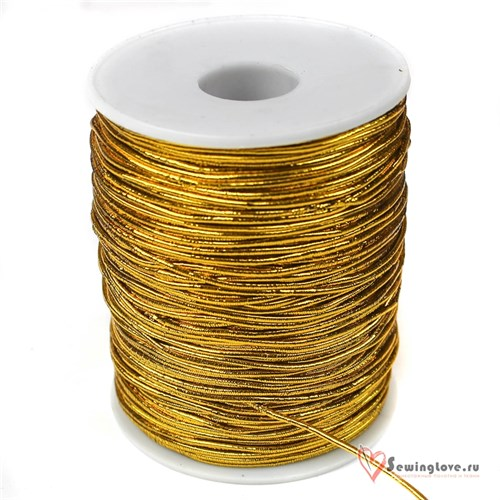 Резинка TBY шляпная (шнур круглый) Золото, 1,5 мм - фото 20558