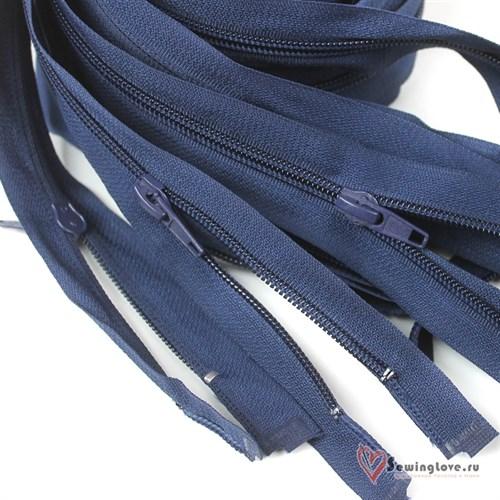 Молния пластиковая спираль Тёмно-синий - фото 20571