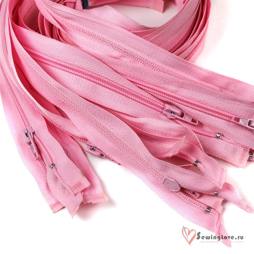 Молния пластиковая спираль Светло-розовый - фото 20573