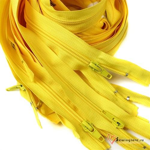 Молния пластиковая спираль Жёлтый - фото 20577