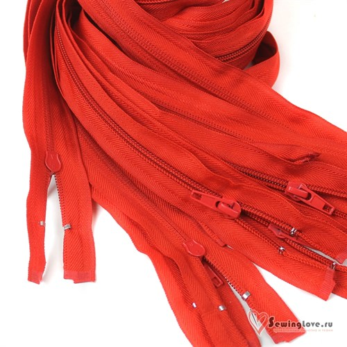 Молния пластиковая спираль Красный - фото 20589