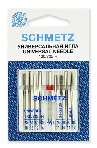 Иглы комбинированные Schmetz 130/705H №№ 70,80(2),90;75,90(S);90,100(J);80/2.0, - фото 21769
