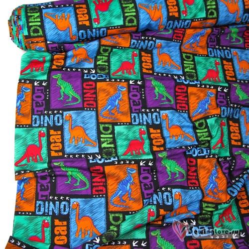 Футер 2-х ниточный Динозавры - фото 22600