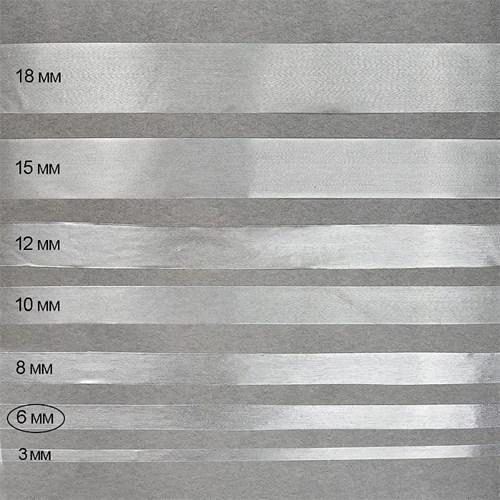 Лента силиконовая матовая 6 мм - фото 22633