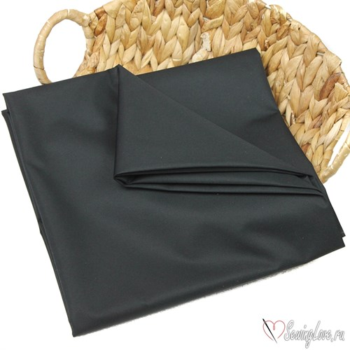 Курточная ткань Дюспо (Dewspo) Чёрный - фото 22795