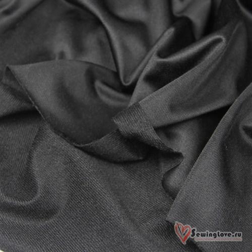 Ворсовый трикотаж (каризма) Черный - фото 22801