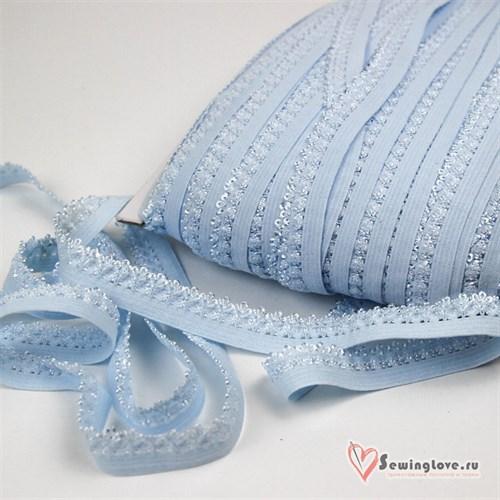 Резинка TBY бельевая, 12мм Голубой - фото 24466