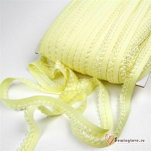 Резинка TBY бельевая, 12мм Жёлтый - фото 24467