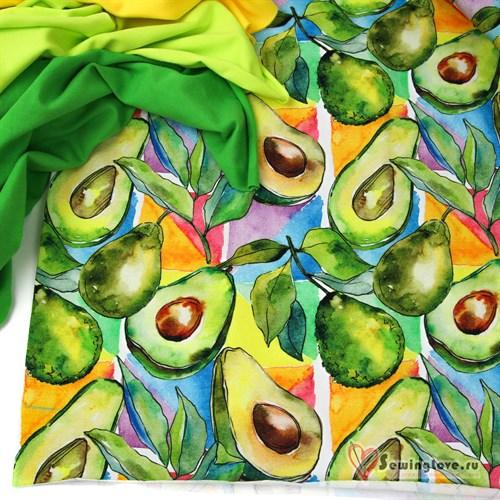 Кулир Акварельные авокадо - фото 30266