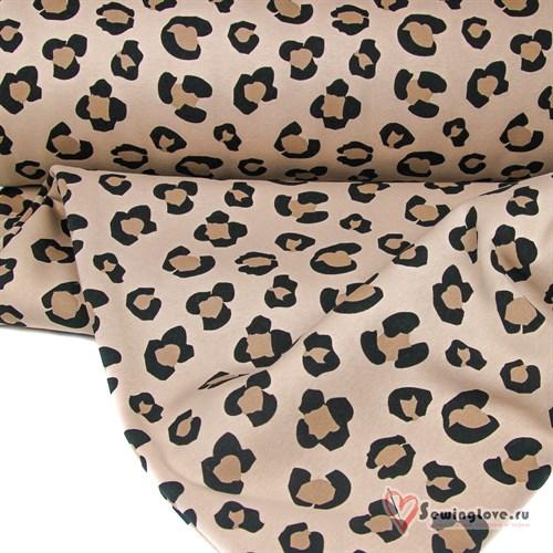 Футер 2-х ниточный Леопард бежевый - фото 31833