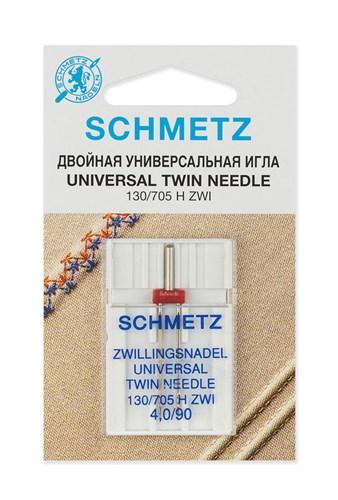 Иглы стандартные двойные Schmetz 130/705H ZWI № 90/4.0 - фото 32520