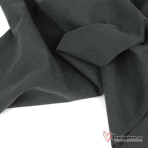 Ткань курточная LOKKER с эффектом замши. Угольный - фото 32542