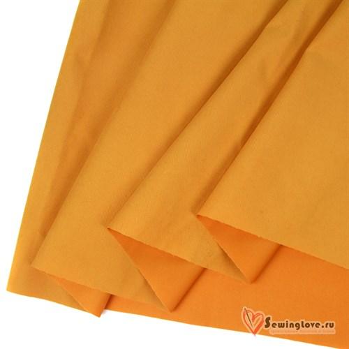 Ткань курточная Твил с Peach эффект. Яркая горчица - фото 32552