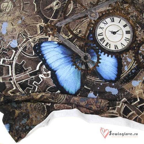 Футер Бабочки с часами, купон - фото 34832