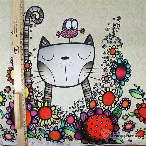 Кулир Кот в цветах, купон - фото 35636