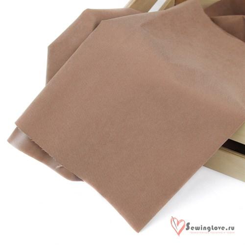 Ткань мембранная Твил с Peach эффектом. Кофейный мусс - фото 38857