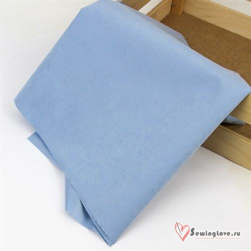 Ткань мембранная Твил с Peach эффектом. Светло-голубой - фото 38868