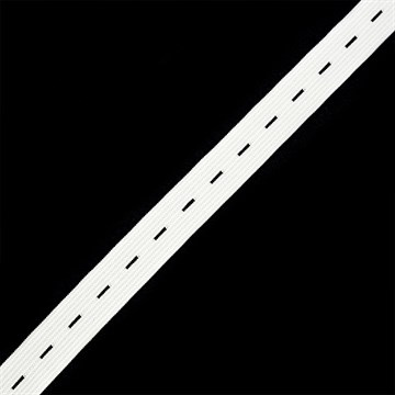 Резинка TBY вязаная перфорированная, 20мм, Белый