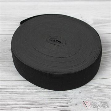 Резинка вязаная, 40 мм, Черный