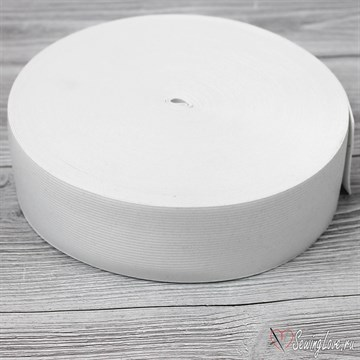Резинка вязаная, 50 мм, Белый