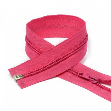 Молния пластиковая спираль Ярко-розовый, 60 см