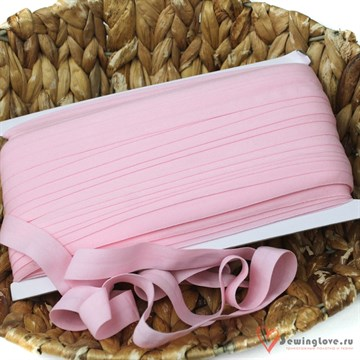Резинка TBY окантовочная матовая 15 мм, Светло-розовый