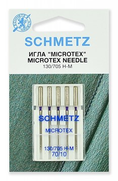 Иглы микротекс (особо острые) Schmetz 130/705H-M № 70