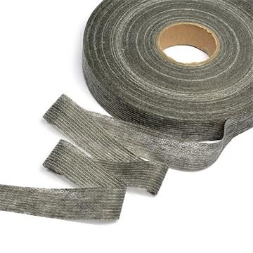 Лента нитепрошивная клеевая по долевой, 20 мм, Серый