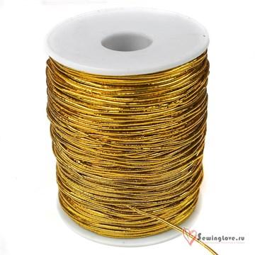 Резинка TBY шляпная (шнур круглый) Золото, 1,5 мм