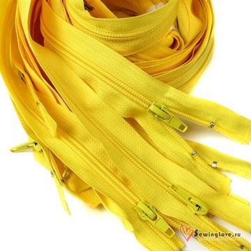 Молния пластиковая спираль Жёлтый
