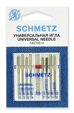 Иглы комбинированные Schmetz 130/705H №№ 70,80(2),90;75,90(S);90,100(J);80/2.0,