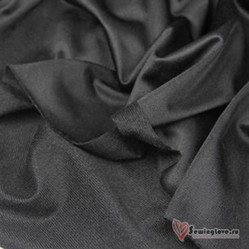 Ворсовый трикотаж (каризма) Черный