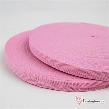 Тесьма киперная, 10 мм, хлопок, Розовый