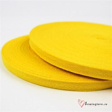 Тесьма киперная, 10 мм, хлопок, Жёлтый