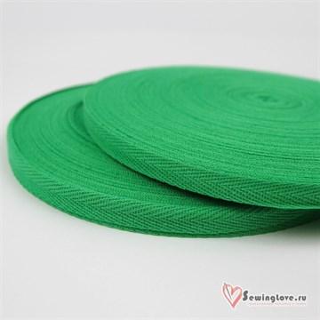 Тесьма киперная, 10 мм, хлопок, Зелёный