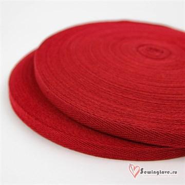 Тесьма киперная, 10 мм, хлопок, Бордовый