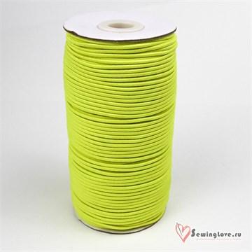 Резинка TBY шляпная (шнур круглый) Жёлтый, 2 мм